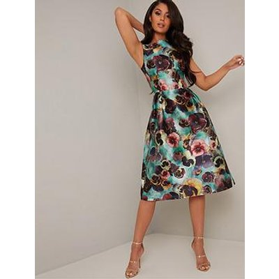 Chi Chi London Alyssa Dress - Teal