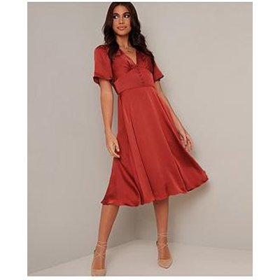 Chi Chi London Jaslene Dress - Rust