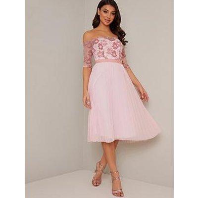 Chi Chi London Selda Dress - Pink