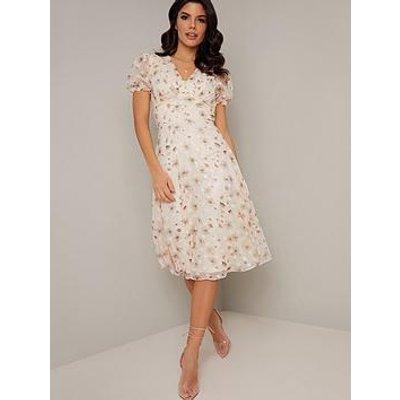 Chi Chi London Kyra Dress - Cream