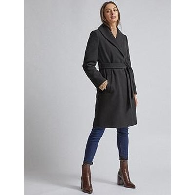 Dorothy Perkins Dorothy Perkins Black Shawl Wrap Coat - Black