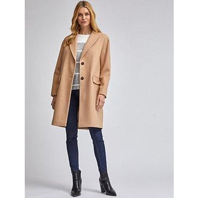 Dorothy Perkins Shawl Coat - Camel
