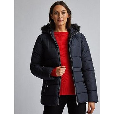 Dorothy Perkins Short Padded Coat - Navy
