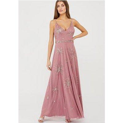 Monsoon Arabella Star Sustainable Maxi Dress - Pink