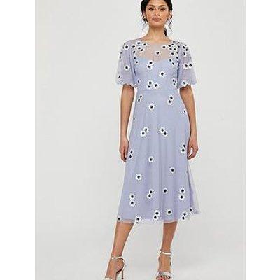 Monsoon Bryony Embellished Daisy Dress - Lilac