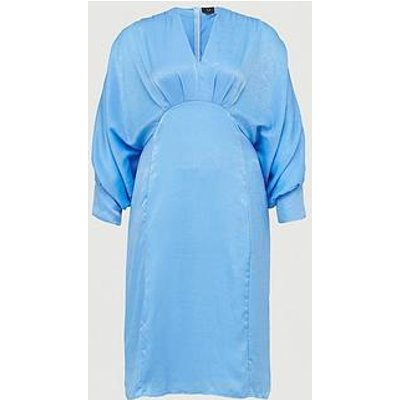 Ax Paris Curve Batwing Dress - Blue