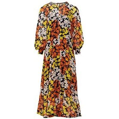 Mcq Alexander Mcqueen Hisano Floral Print Maxi Dress - Yellow
