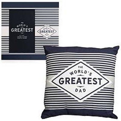 Greatest Ever Dad Cushion & Photo Frame
