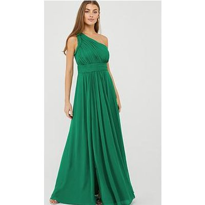 Monsoon Dani One Shoulder Maxi Dress - Green