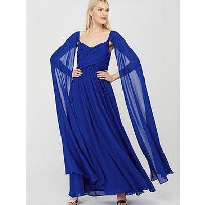 Monsoon Lucie Off Shoulder Maxi Dress - Blue