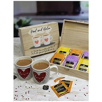 Tea For Two - English Tea 6 Compartment Storage Box