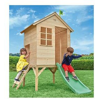 Tp Sunnyside Wooden Tower Playhouse &Amp; Slide