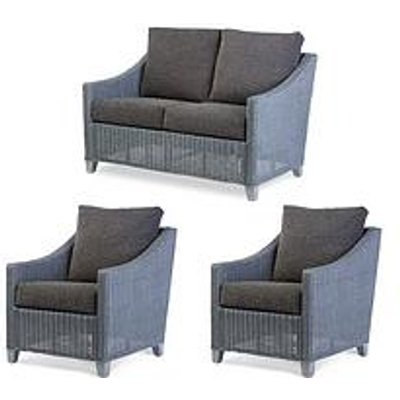 Desser Dijon Grey Wash Conservatory Suite (Sofa &Amp; Two Chairs)