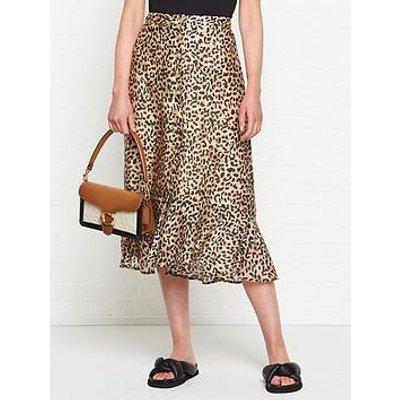 Lily & Lionel Jackie Vintage Animal Print Skirt - Leopard