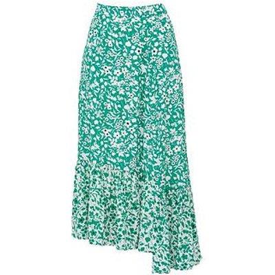 Lily & Lionel Cleo Blossom Print Midi Skirt - Green