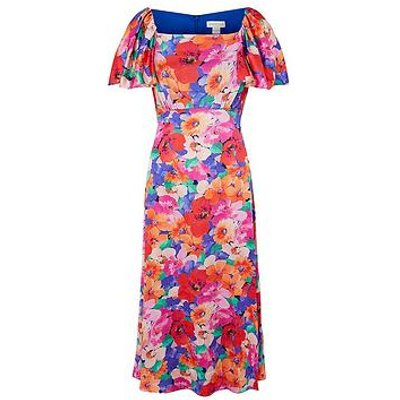 Monsoon Lina Floral Print Midi Dress - Pink