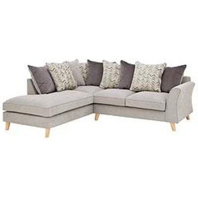 Legato Left Hand Fabric Scatter Back Corner Chaise Sofa