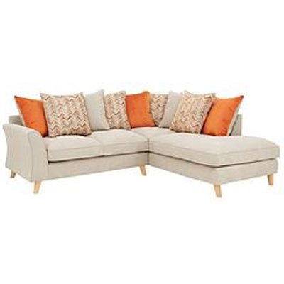 Legato Right Hand Fabric Scatter Back Corner Chaise Sofa