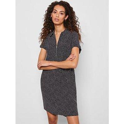 Mint Velvet Spot Throw On Midi Shirt Dress - Black