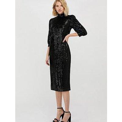 Monsoon Kalila Sequin Midi Dress - Black