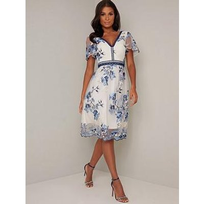 Chi Chi London Ashlee Dress - Cream