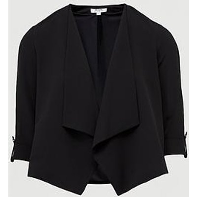 Dorothy Perkins Petite Waterfall Jacket - Black