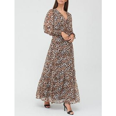 V By Very Georgette Wrap Maxi Dress - Animal