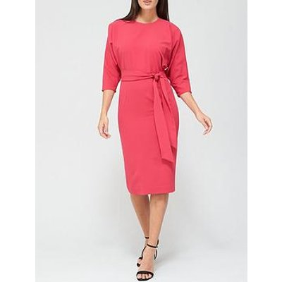 V By Very Rosa Kimono Sleeve Fitted Dress - Pink