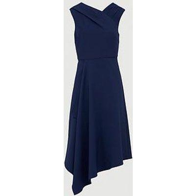 V By Very Mila Draped Skirt Prom Dress - Navy