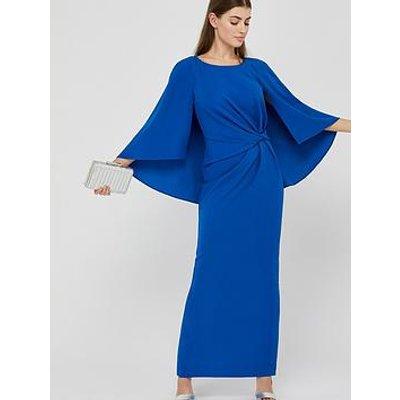 Monsoon Cara Cape Maxi Dress - Blue