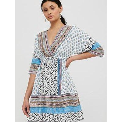 Monsoon Dahlia Print Kaftan Dress - Ivory
