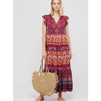 Monsoon Tamalia Print Maxi Dress - Pink