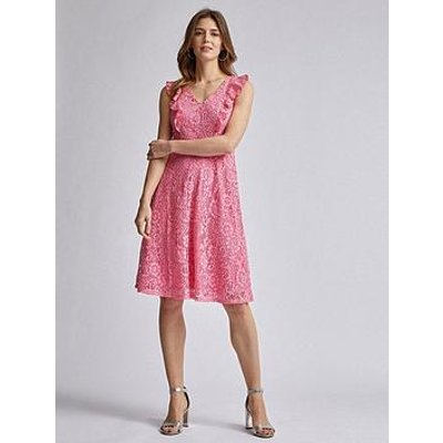 Dorothy Perkins Lace Taylor Midi Dress - Rose