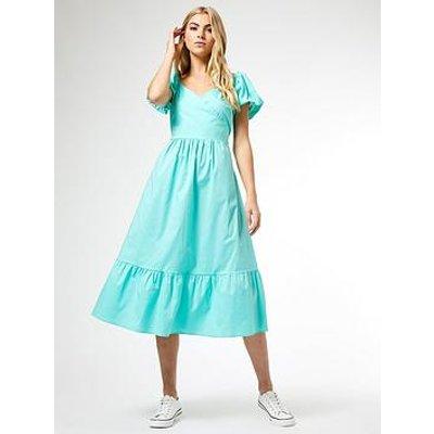 Dorothy Perkins Poplin Midi Dress - Mint