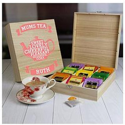 Mums Wooden Tea Chest - 9 Compartment