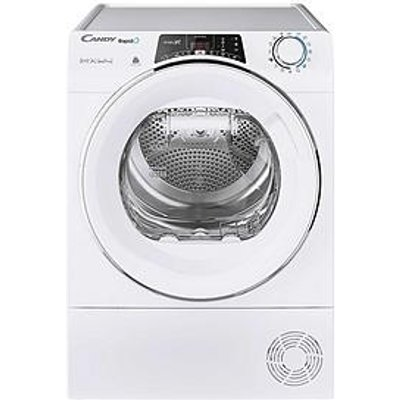 Candy Rapido Roh10A2Tce, 10Kg Load, Heat Pump Tumble Dryer - White/Chrome