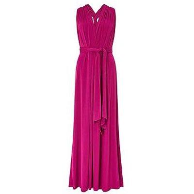 Monsoon Tallulah Twist Me Tie Me Jersey Dress - Pink