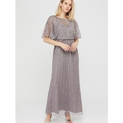 Monsoon Tatiana Embellished Maxi Dress - Grey