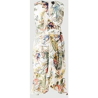 Ax Paris Curve Printed Maxi Dress - Cream