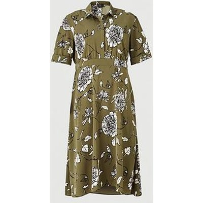 Ax Paris Curve Maxi Shirt Dress - Khaki