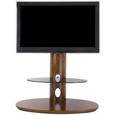 Avf Chepstow Combi 930 Tv Unit - Walnut/ Black Glass - Fits Up To 65 Inch Tv