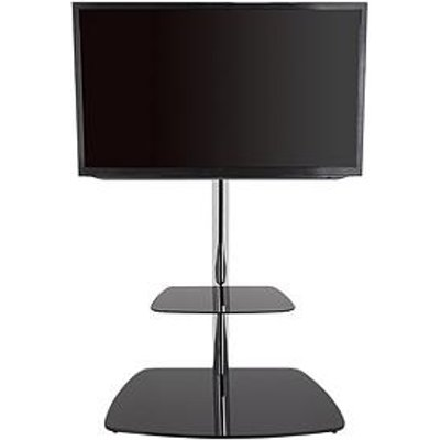 Avf Iseo 800 Tv Unit - Chrome/Black Glass - Fits Up To 70 Inch Tv