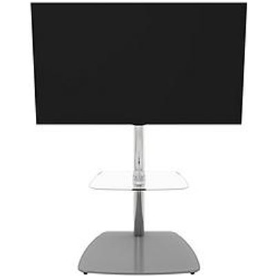 Avf Iseo 600 Tv Unit - Chrome/Grey Glass - Fits Up To 55 Inch Tv
