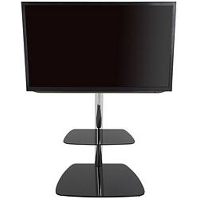 Avf Iseo 600 Tv Unit - Chrome/Black Glass - Fits Up To 55 Inch Tv
