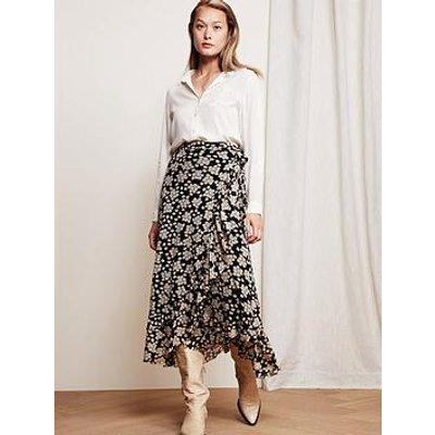 Fabienne Chapot Bobo Floral Print Mesh Wrap Skirt - Black