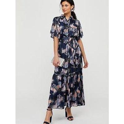 Monsoon Birdie Printed Shirt Dress - Navy