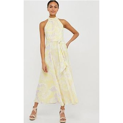 Monsoon Tori Tie Dye Sustainable Dress - Yellow