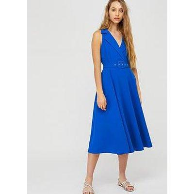 Monsoon Isla Structured Midi Dress - Blue