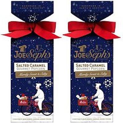 Joe & Sephs Salted Caramel Popcorn Festive Cracker Gift Box X2