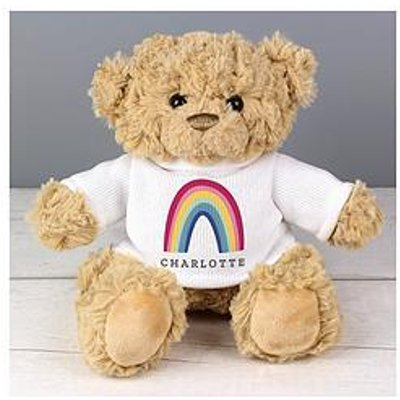 Personalised Rainbow T-Shirt Teddy Bear